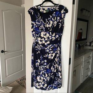 Navy floral print lauren Ralph Lauren dress size 8